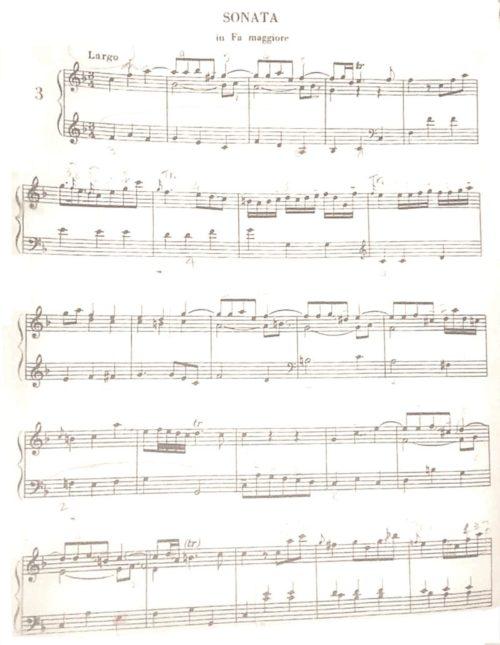 ガルッピのソナタヘ長調の楽譜