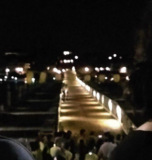 レデントーレ祭の花火時の浮き橋