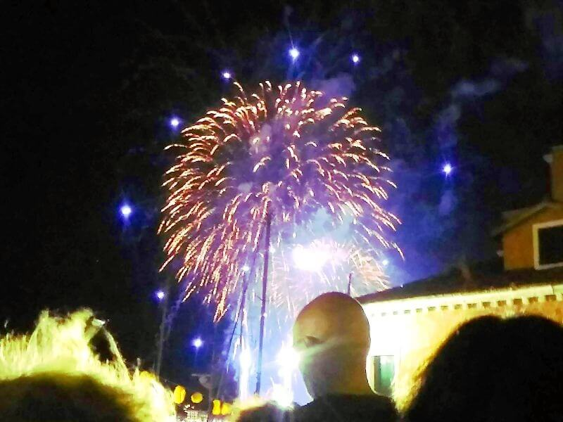 レデントーレ祭の花火の様子