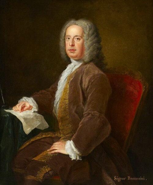 作曲家ジョヴァンニ・ボノンチーニの肖像画