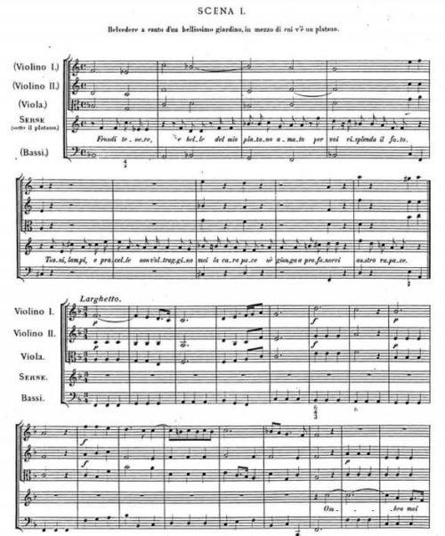 オンブラマイフ楽譜(オペラ《セルセ》第一幕)
