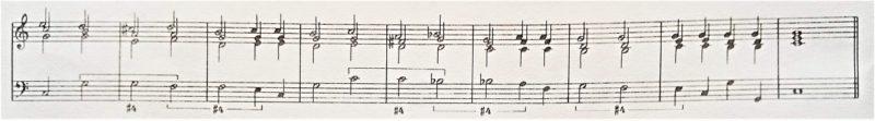 通奏低音#4のついた譜例のリアリゼーション