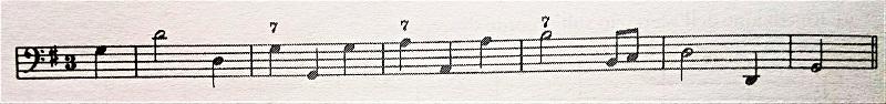 通奏低音の数字 - 7のついた譜例