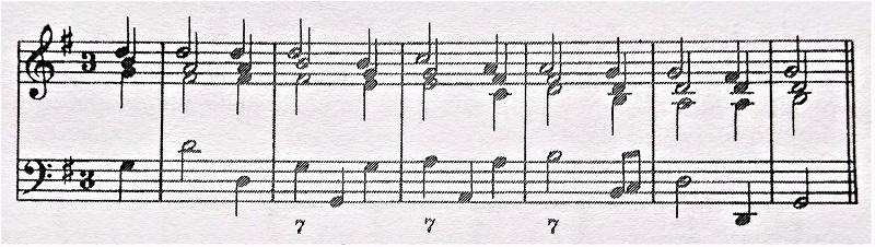 通奏低音7のついた譜例のリアリゼーション