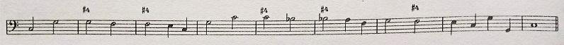 通奏低音の数字 - #4のついた譜例