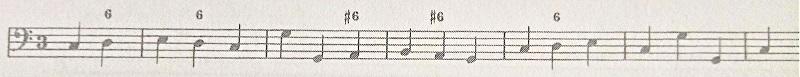 通奏低音バス譜例(6の属七転回形)