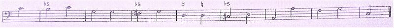 通奏低音バス譜例ー減5度