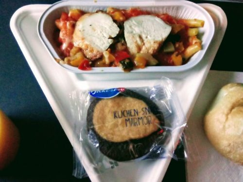 オーストリア航空機内食の写真