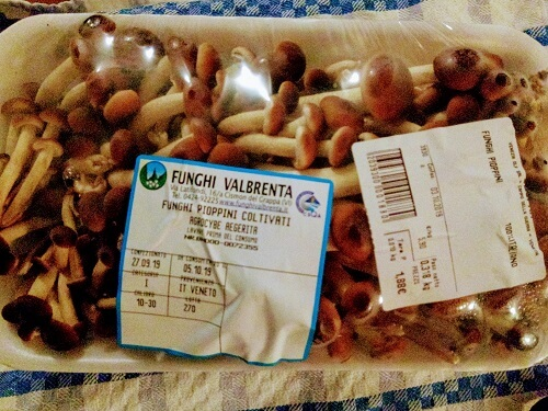 イタリアのスーパーで買ったきのこの写真