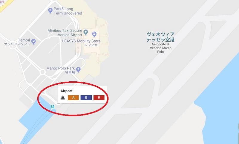 アリラグーナ乗り場の地図