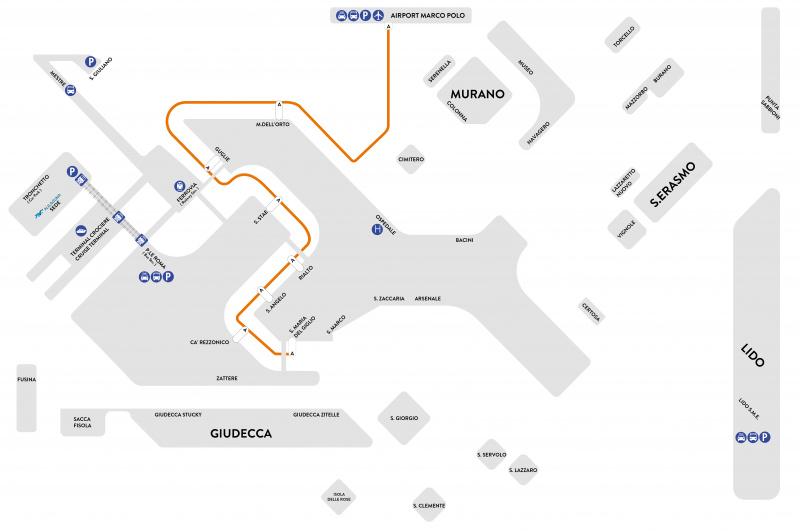 アリラグーナオレンジライン地図