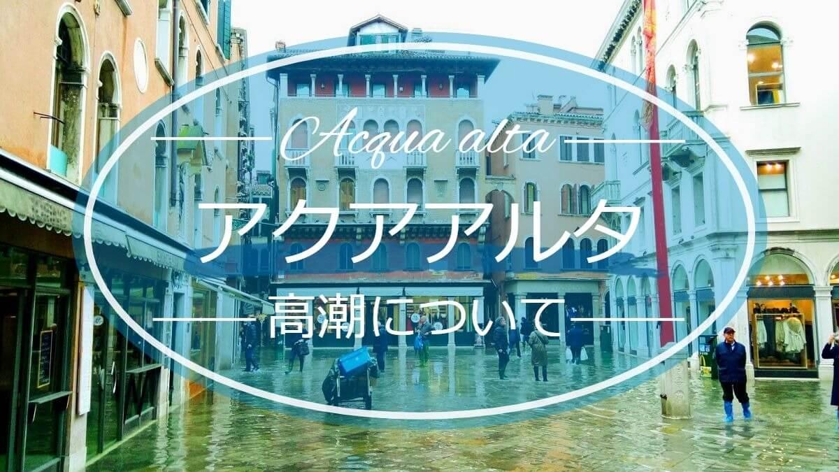 ベネチアのアクアアルタの記事画像