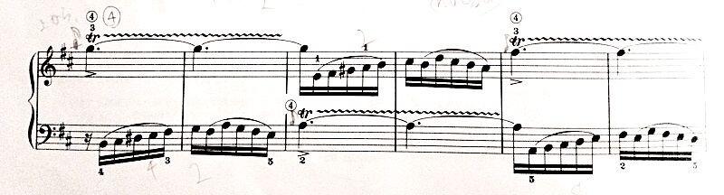 バッハのチェンバロ演奏に関するトリルの説明画像