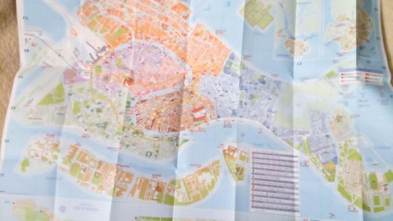 ヴェネツィアで販売されている地図をひらいたところ