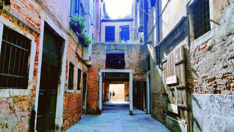 ヴェネツィアの写真。フォンダメンテ・ノーヴェの近く