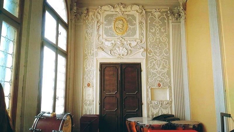ヴェネツィアの音楽院内の様子