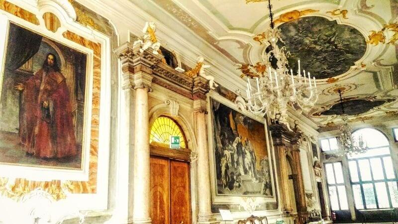 ヴェネツィア音楽院の内部の様子