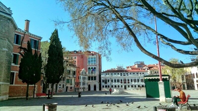 ベネチアの現在の様子。サン・ポーロ広場