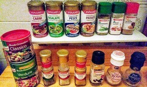 イタリア留学の自炊食材、調味料