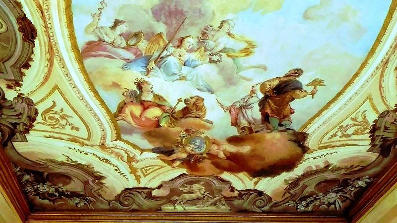 留学先のヴェネツィア音楽院の天井画