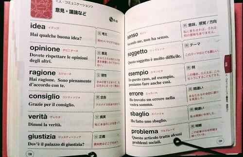 大きな文字で読みやすい『イタリア語単語帳』