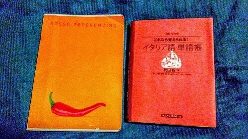A5サイズよりひとまわり小さい『イタリア語単語帳』