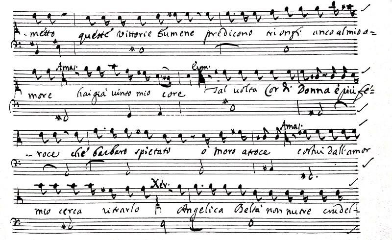 ボノンチーニのオペラ《セルセ》第一幕13場のレチタティーヴォ