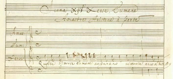 カヴァッリのオペラ《セルセ》第一幕13場冒頭