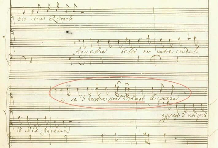 カヴァッリ《セルセ》第一幕13場レチタティーヴォ