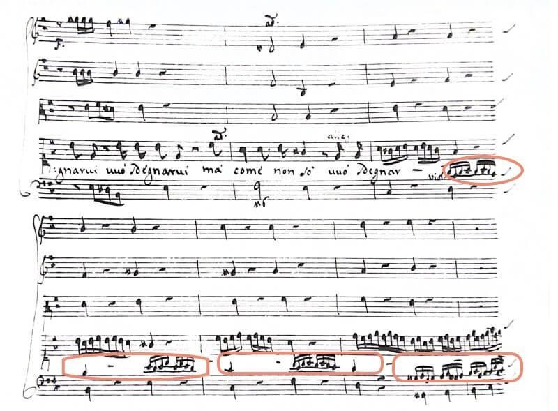 ボノンチーニ《セルセ》第二幕第4場アリア Se bramate d'amar の楽譜