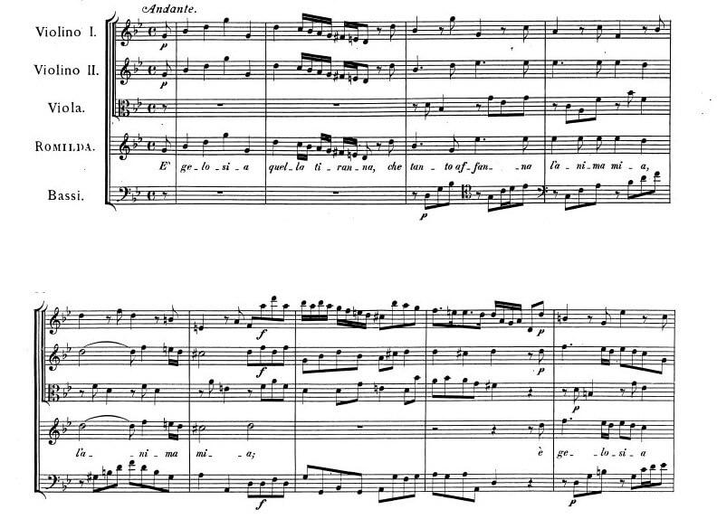 ヘンデル《セルセ》第二幕5場アリア E′gelosia (ロミルダ)の楽譜